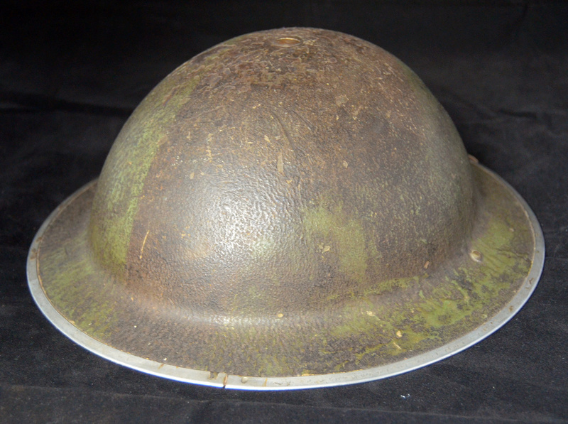 British RAF camo helmet with insignia and Canadian liner Raf310