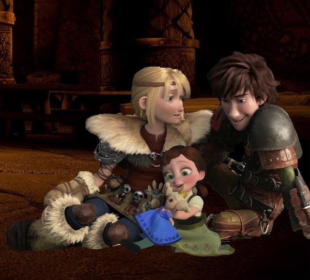Comment pourrait être l'enfant d'Harold et Astrid s'ils en ont un dans Dragons 3 ? 911