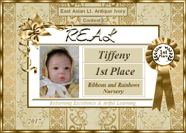 2017 Winner Logo for the East Asian Light Antique Ivory Class Contest - Tiffeny of Ribbons and Rainbows Nursery E_a_l_10