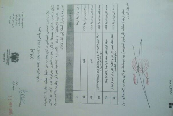 المستشار الجماعي يوضح للرأي العام سبب إلغاء مبارة التوظيف بجماعة مولاي يعقوب المركز 21015610