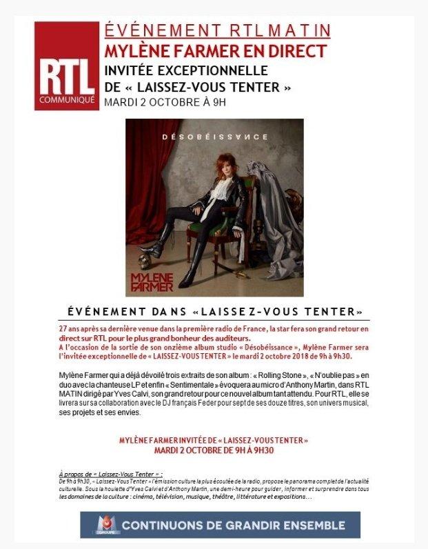 [Interview] RTL, le 03 octobre 2018 Interv10
