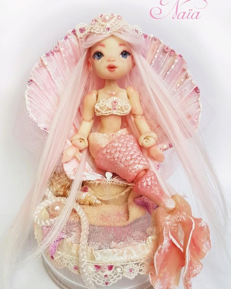 VENTE poupées d'artiste, BJD en polymère faits main -Flora  Img_2011