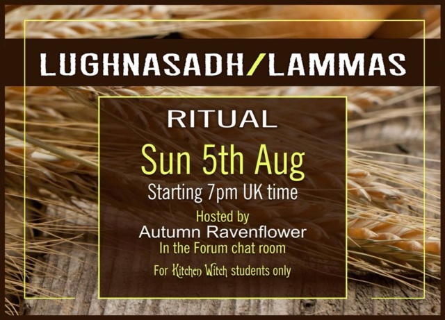 Online Chat Room - Lughnasadh Ritual 5th August 2018 38007910