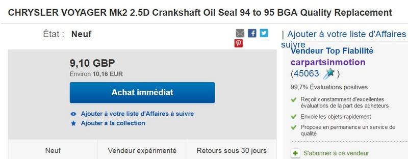 fuite d'huile Captu101