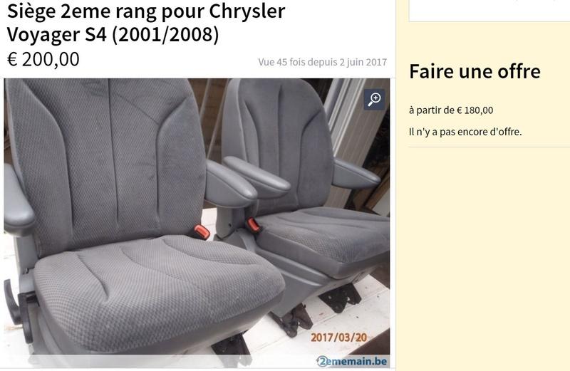 PapyKy, Vend deux sièges centrale et vide poche S4 de 2004 en tissu gris. Captur98