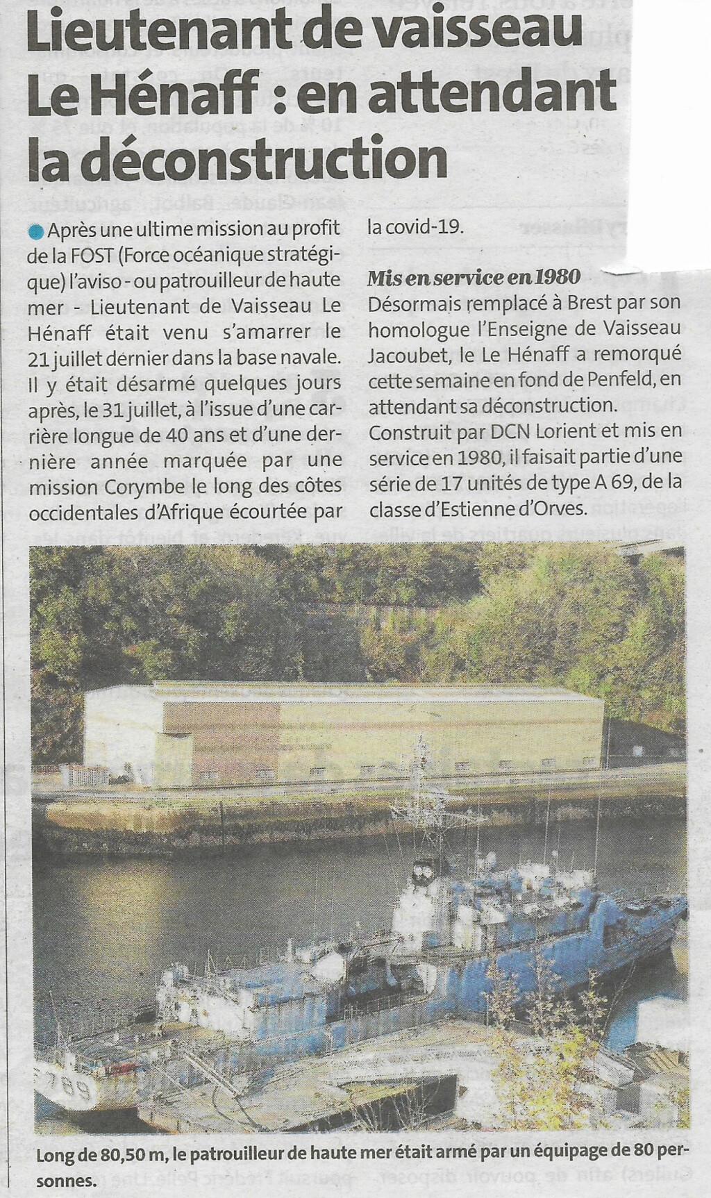[Autre sujet Marine Nationale] Démantèlement, déconstruction des navires - TOME 2 - Page 7 Lhf10