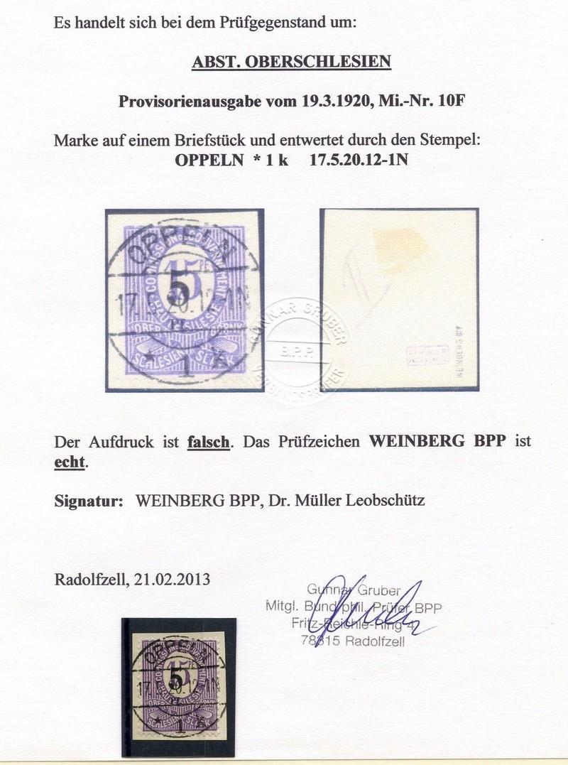 Oberschlesien Michel - Nummer 38 mit Falschaufdruck Img08910