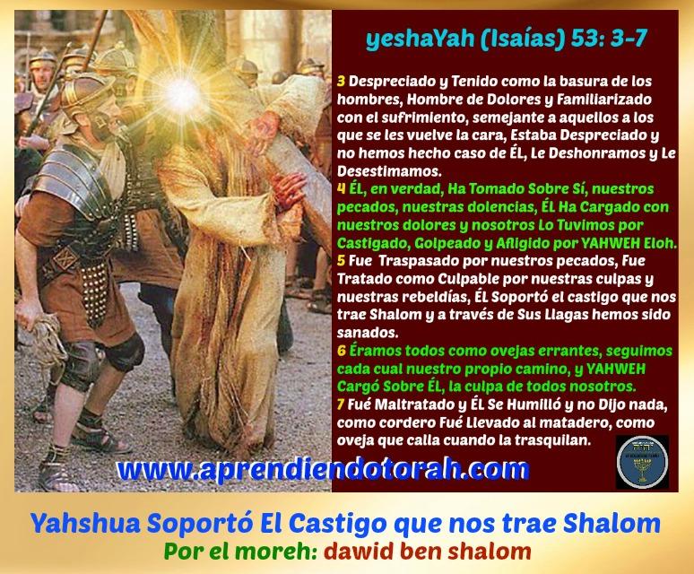 MINISTRACIÓN DE SHABBAT: Yahshua Soportó El Castigo que nos da Shalom Isayas11