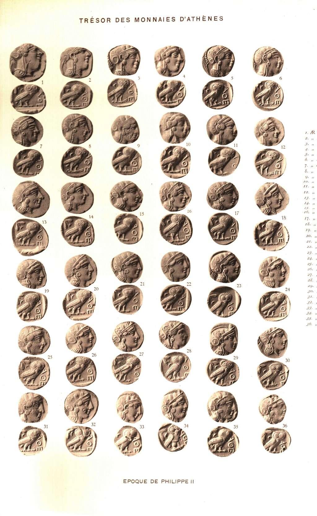 Svoronos Les monnaies d'Athènes Sv_pl110