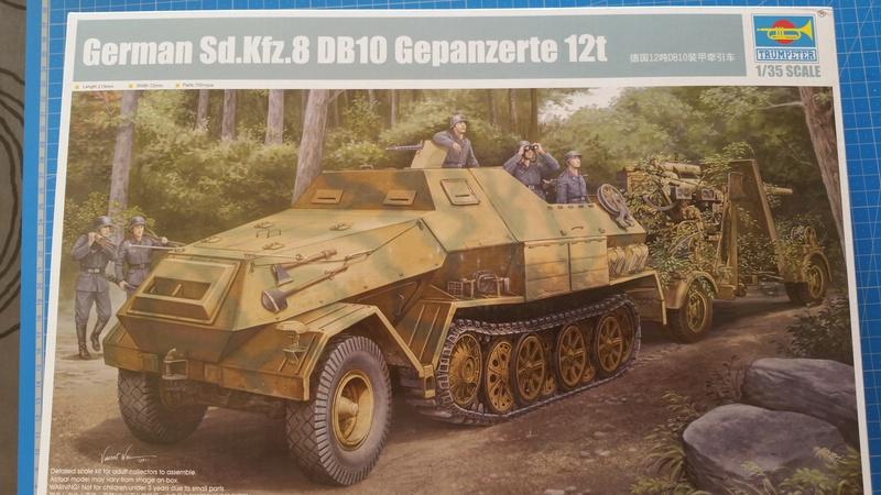 German Sd.Kfz.8 db10 Gepanzerte 12t - 1/35 Trumpeter 20170711
