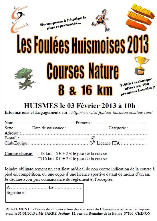 Pour les amateurs de trail et de course à pied Huisme10