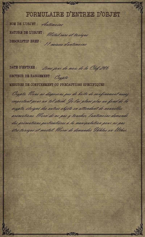 Formulaire : Caisses d'Antimoine Formul15