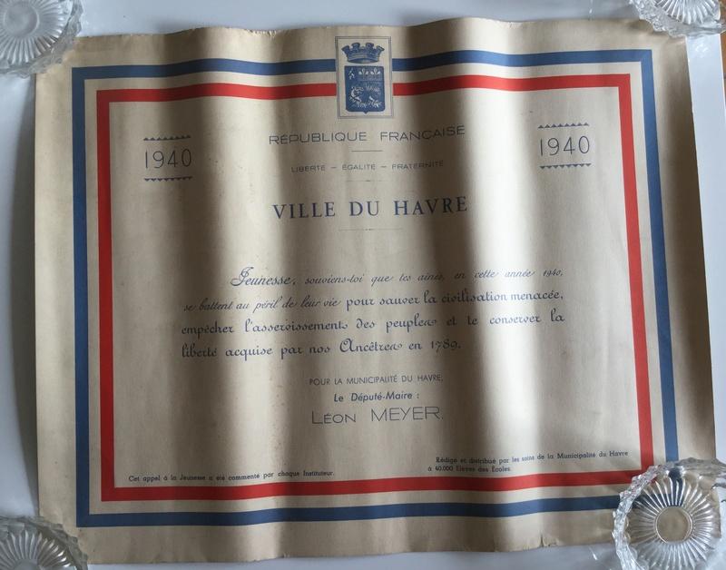 """""""Diplôme"""" patriotique distribué durant le drôle de guerre aux élèves du Havre Img_0111"""