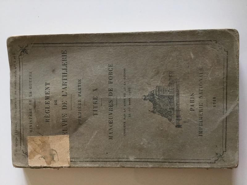 Règlement de manoeuvre de l'Artillerie 1ère partie - Edition 1940  Img_0127