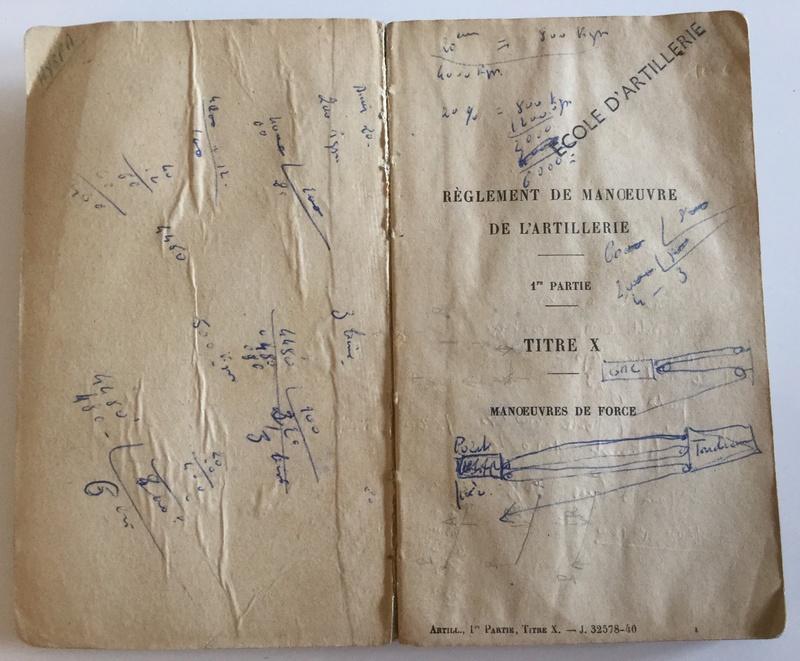 Règlement de manoeuvre de l'Artillerie 1ère partie - Edition 1940  Img_0128