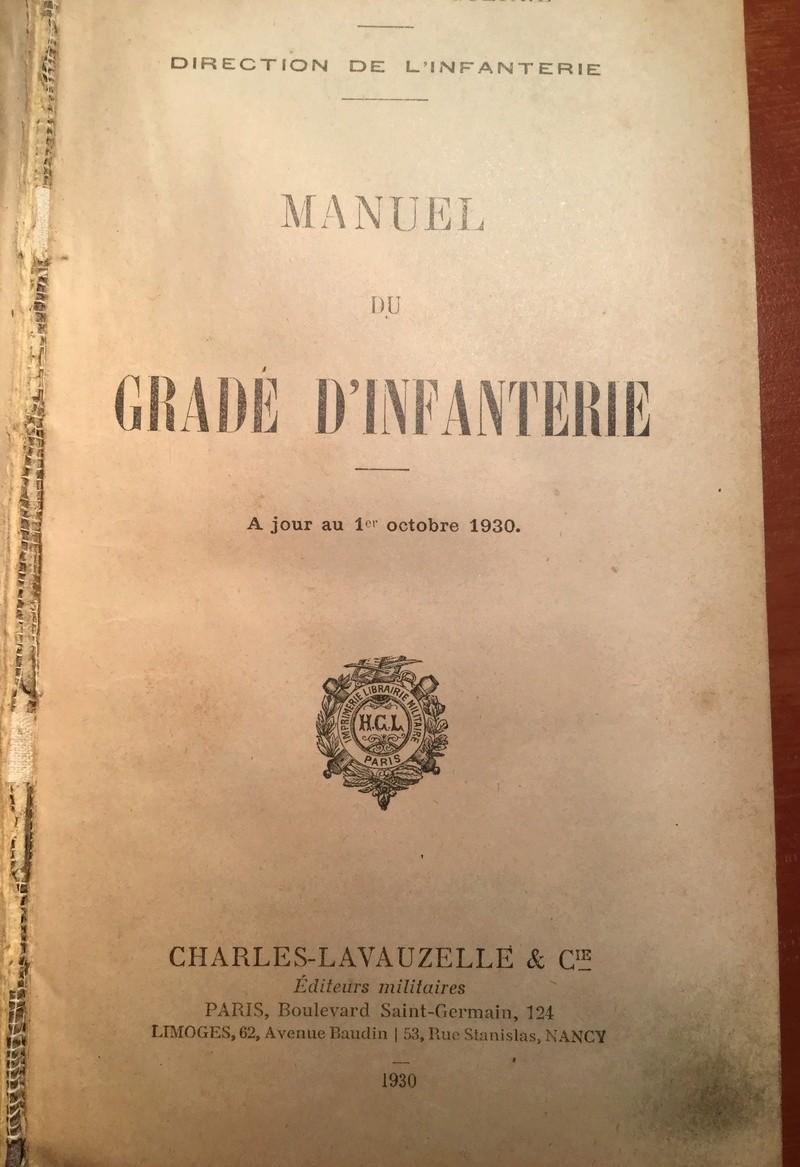 Manuel du Gradé d'Infanterie - Edition 1930 Img_0257