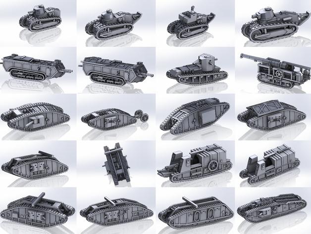 Les blindés et véhicules français en impression 3D Wwi_pa10