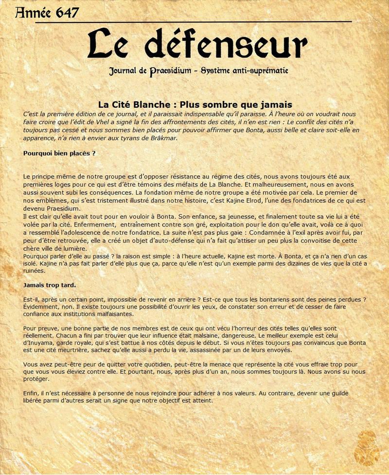 [Journal] Le Défenseur #1  Journa10