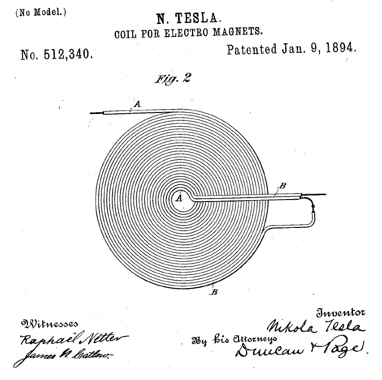 COIL FOR ELECTRO MAGNETS NIKOLA TESLA  Teslac10