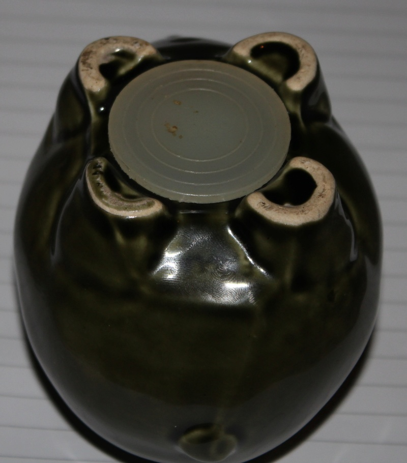 Green Glazed Piggy Bank (1960's/1970s) Kent_a12