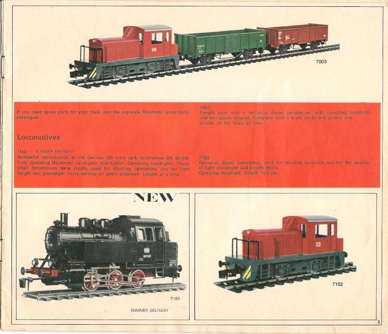 Le catalogue Rivarossi modello O 1971-72: complémentarité et concurrence. 00311