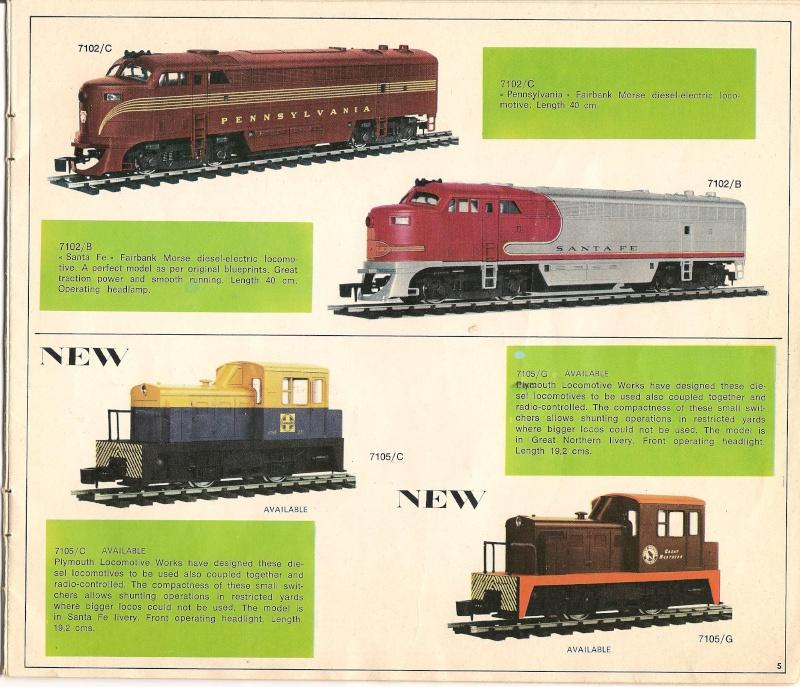Le catalogue Rivarossi modello O 1971-72: complémentarité et concurrence. 00511