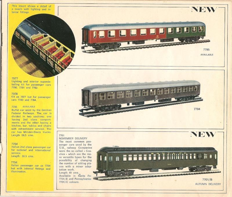 Le catalogue Rivarossi modello O 1971-72: complémentarité et concurrence. 00711
