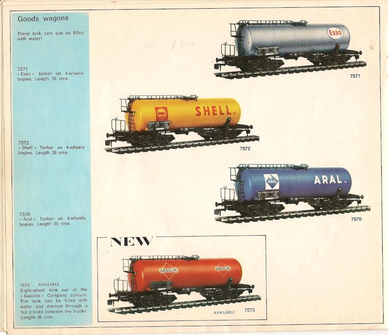 Le catalogue Rivarossi modello O 1971-72: complémentarité et concurrence. 00811