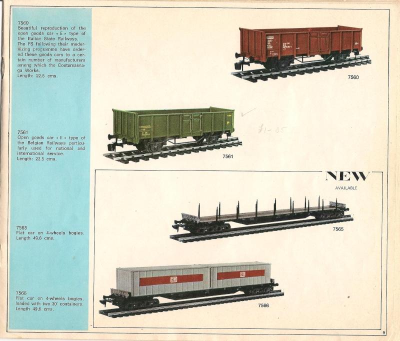 Le catalogue Rivarossi modello O 1971-72: complémentarité et concurrence. 00911