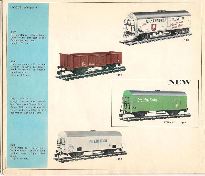 Le catalogue Rivarossi modello O 1971-72: complémentarité et concurrence. 01011