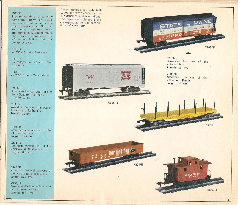 Le catalogue Rivarossi modello O 1971-72: complémentarité et concurrence. 01111