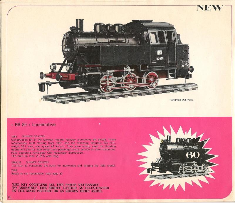 Le catalogue Rivarossi modello O 1971-72: complémentarité et concurrence. 01211