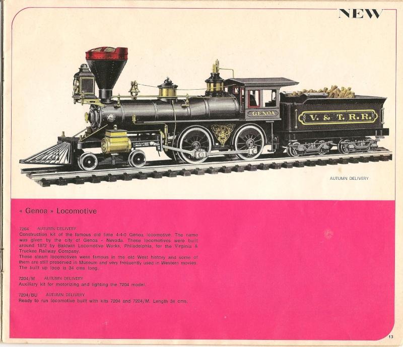 Le catalogue Rivarossi modello O 1971-72: complémentarité et concurrence. 01310