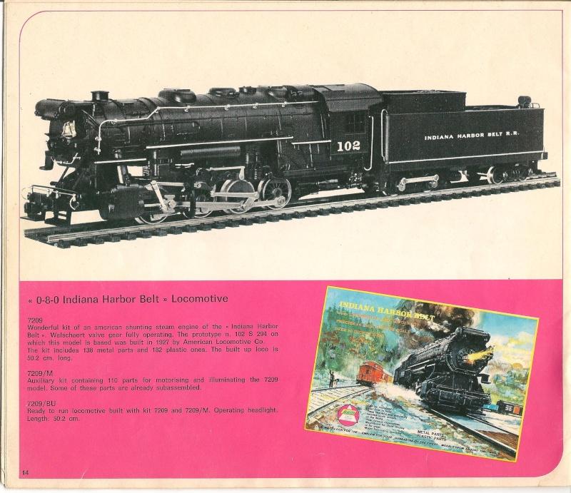 Le catalogue Rivarossi modello O 1971-72: complémentarité et concurrence. 01410
