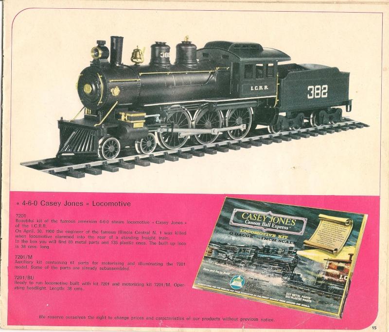 Le catalogue Rivarossi modello O 1971-72: complémentarité et concurrence. 01510