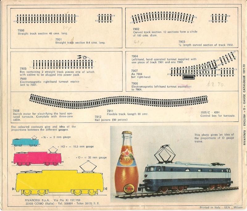 Le catalogue Rivarossi modello O 1971-72: complémentarité et concurrence. 01610