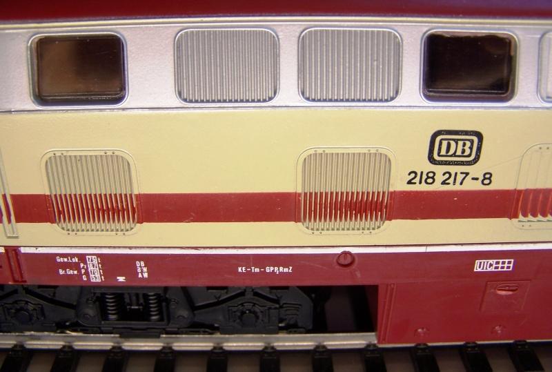 La locomotive diesel V160 Baureihe 216 et 218 de la DB de Lima au 1:45. Lima_o46