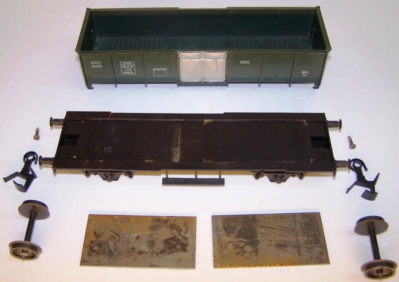 Constitution du wagon tomberau type europeen de Lima au 1/45. Lima_t14