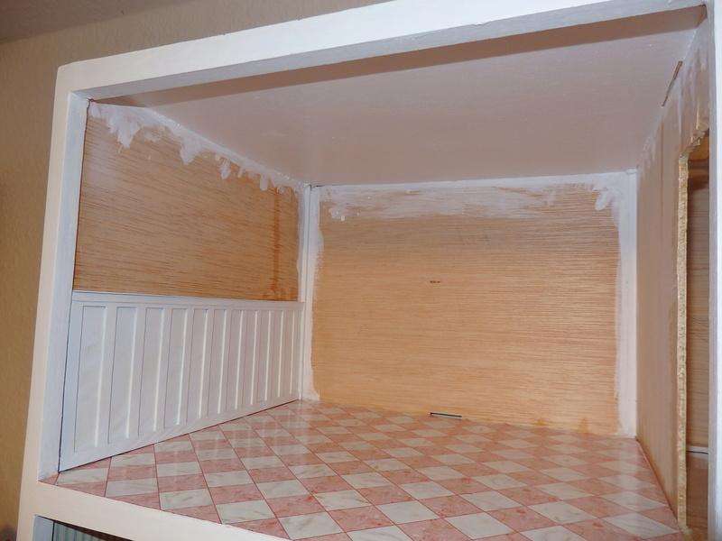 Puppenhaus DelPrado mit Umbau / Änderung / Zubehör P9151413