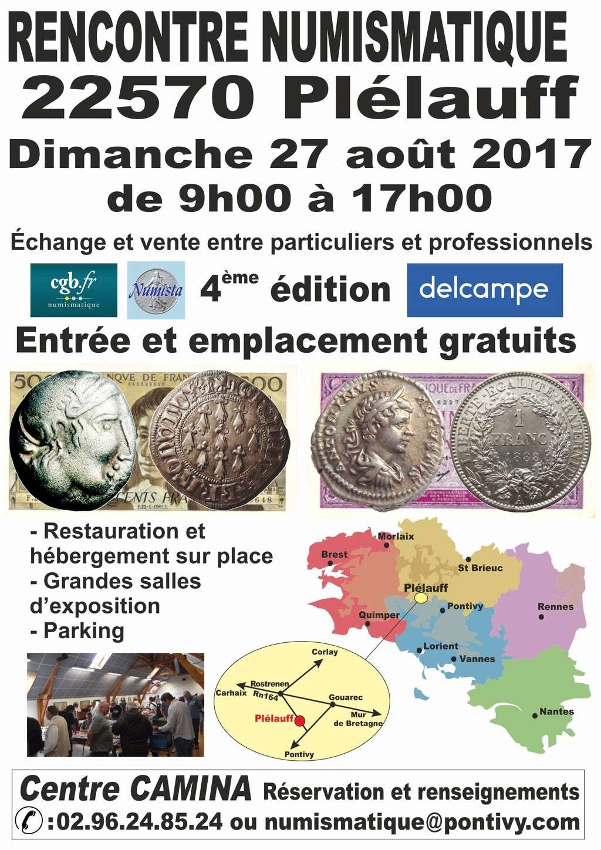 Rencontre Numismatique à Plélauff (Bretagne) le 27 août 2017 Rencon10