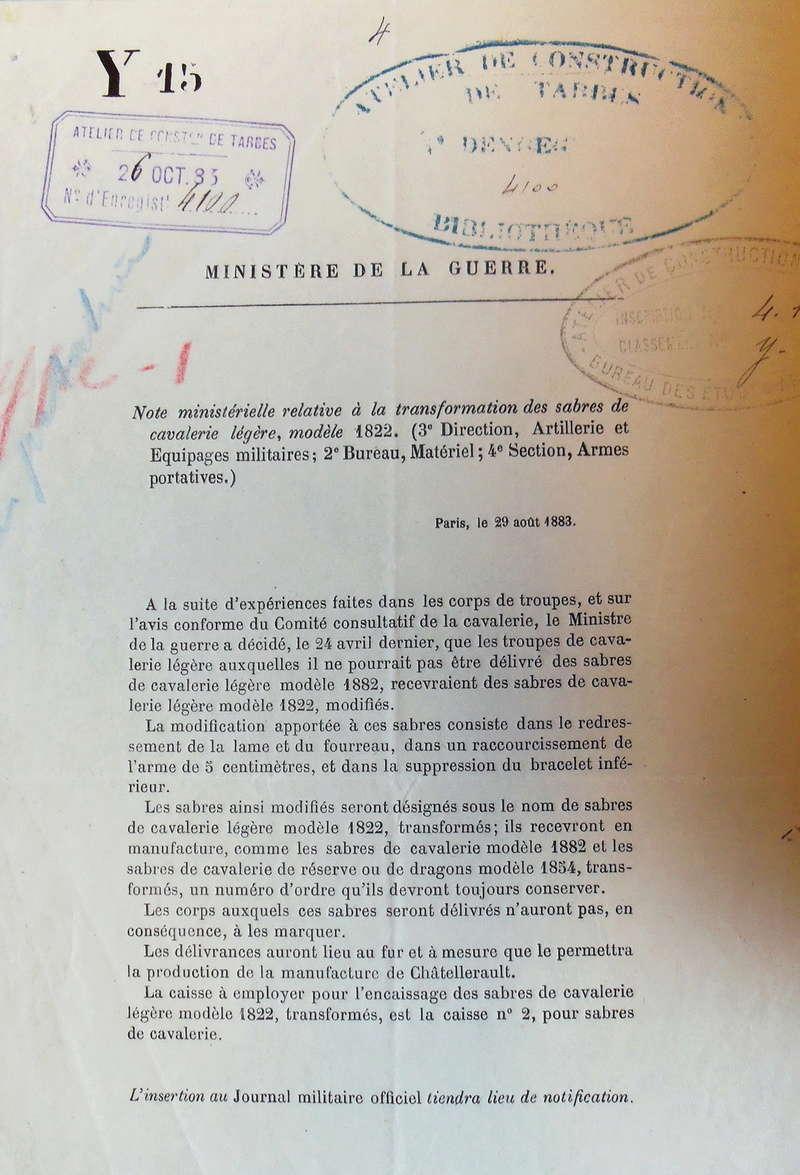 Sabre français de cavalerie 1822  Imgp2710