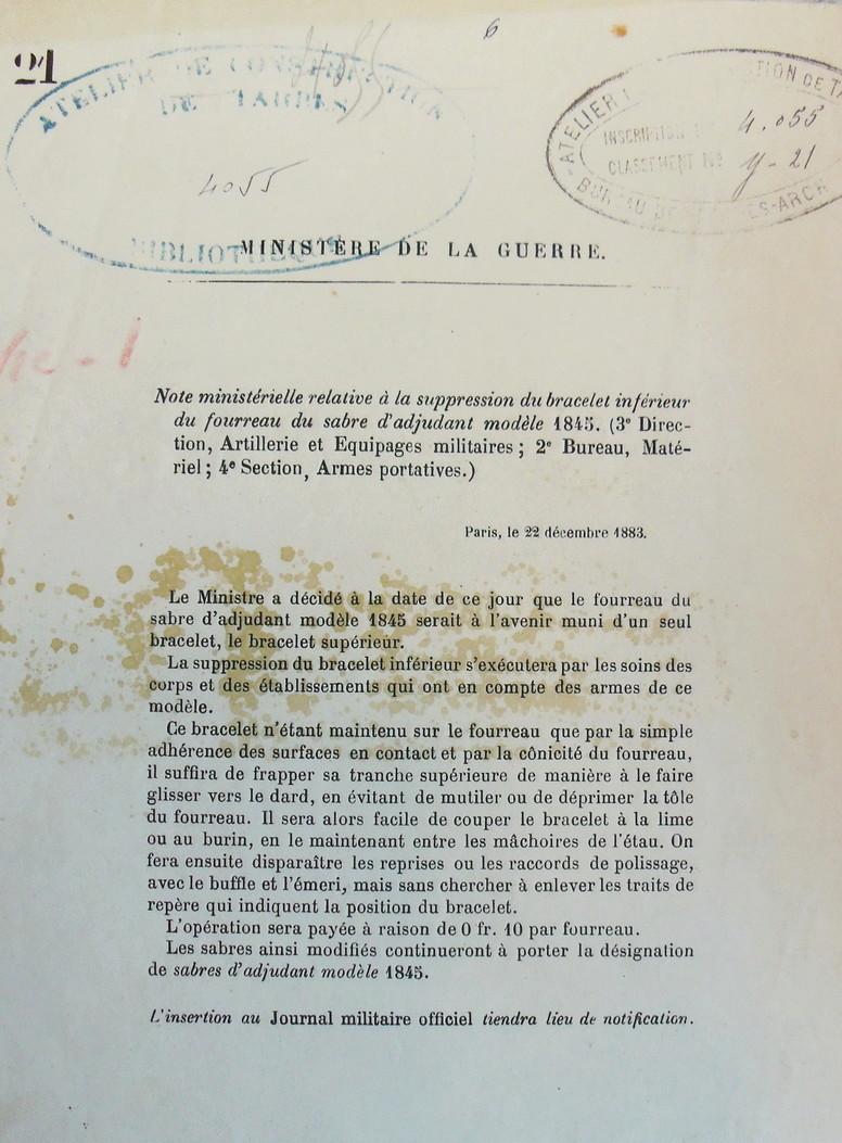 Sabre français de cavalerie 1822  Imgp2711
