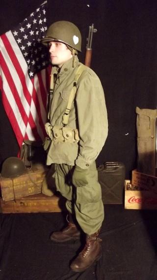 Soldat Parachutiste US Typique Début Bataille des Ardennes 1944/1945 Dscf4031
