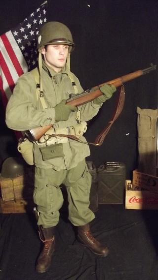 Soldat Parachutiste US Typique Début Bataille des Ardennes 1944/1945 Dscf4032