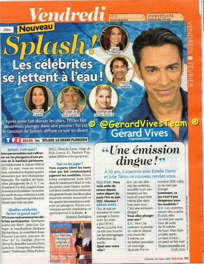 [Presse] Mini interview de Gérard dans le magazine TV Téléstar Scanga11