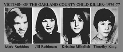 sketch of Delphi killer Abby Williams and Liberty German, Amy Mihaljevic, and Oakland county child killer Jprxjm10