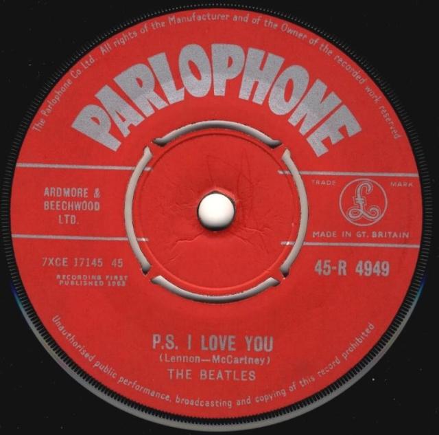 Love Me Do/P.S. I Love You R4949-11