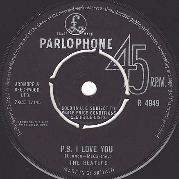 Love Me Do/P.S. I Love You R4949-16