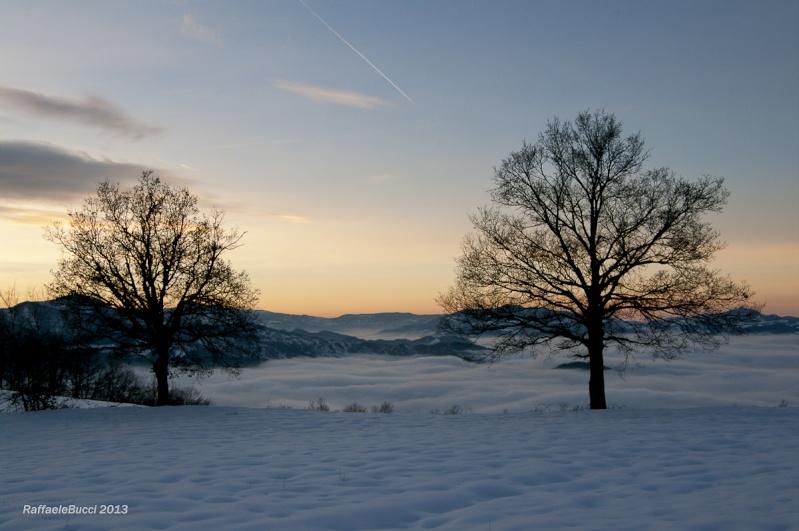 Tramonto su neve e nuvole + NUOVE C_r-510