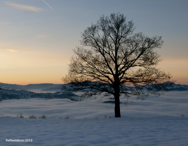 Tramonto su neve e nuvole + NUOVE Ff_rr-11